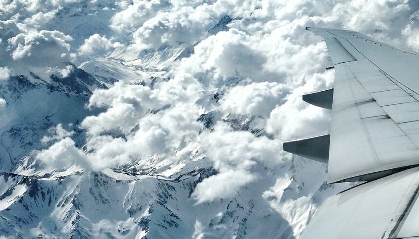 Hora de voltar - Cordilheira dos Andes vista do Avião